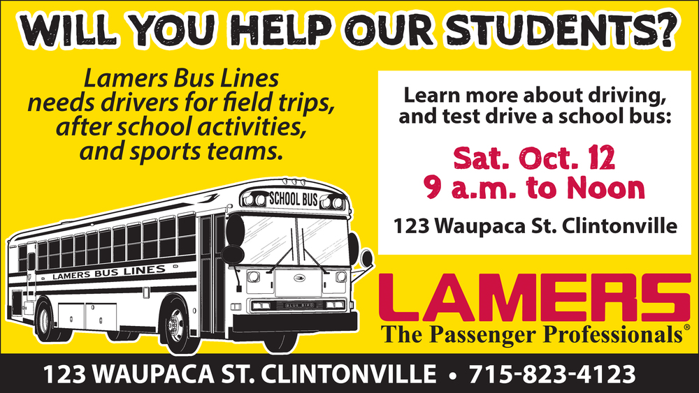 Lamers Bus Lines Needs You!