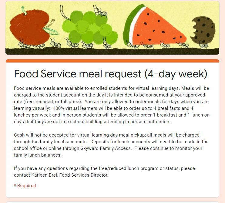 Food Service Request